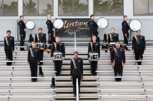 Last years Monticello Mustang Marching band drumline
